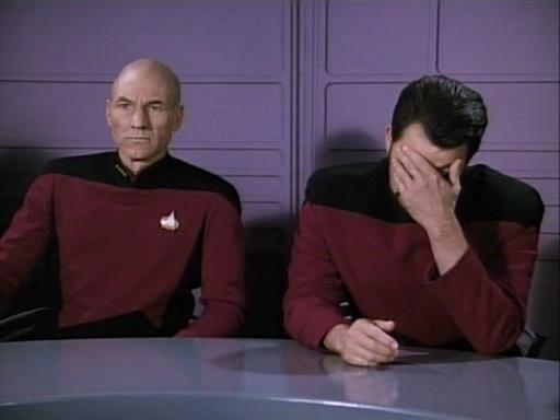 image of Riker facepalming