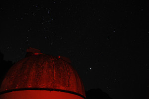 observatory beneath a starry sky