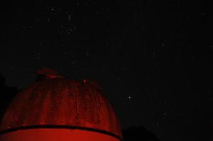 observatory beneath a starry sky